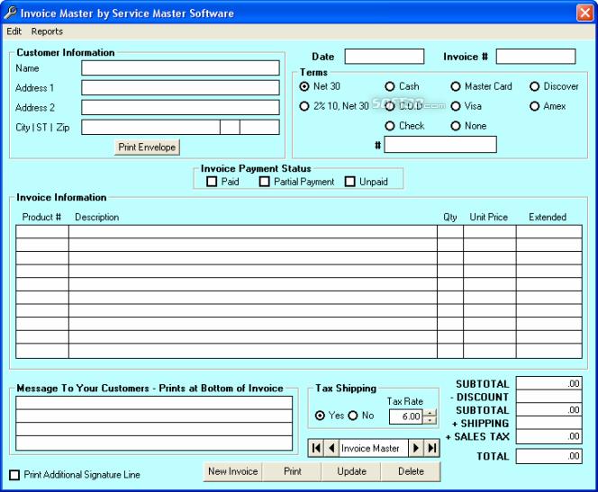 Service Master Software Screenshot 5