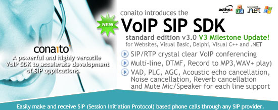 VoIP SIP SDK for .NET and ActiveX Screenshot
