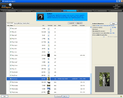 Media Investigator File Recovery Screenshot