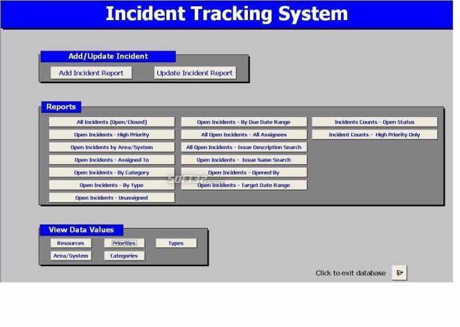 Incident Tracking System Screenshot 2