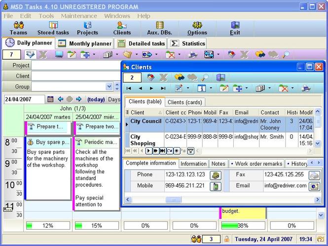 MSD Tasks Multiuser Screenshot