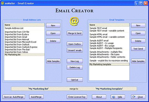 eeMailer - Email Sender Screenshot