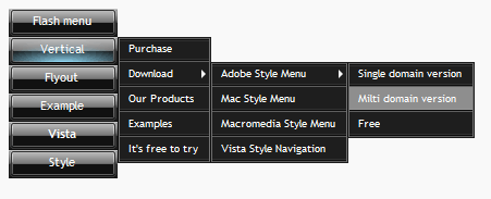 Vista Vertical Flyout Menu Screenshot 1