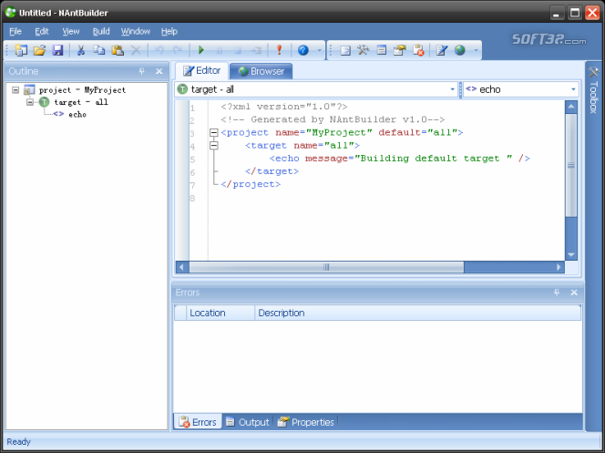 NAntBuilder Screenshot