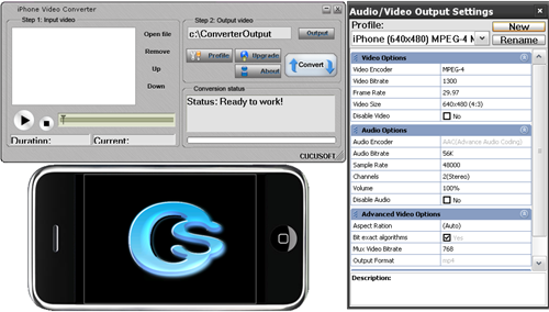 Cucusoft iPhone Video Converter v3.0 Screenshot