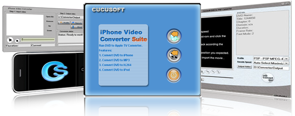 iphone Video Converter + DVD to iphone Suite P Screenshot 1