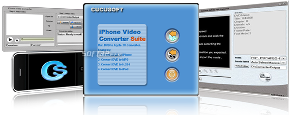 iphone Video Converter + DVD to iphone Suite P Screenshot 2