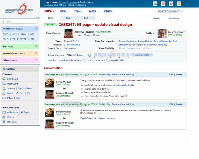 Project management software Comindwork Screenshot 3