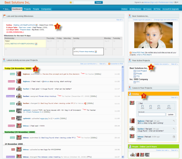 Project management software Comindwork Screenshot
