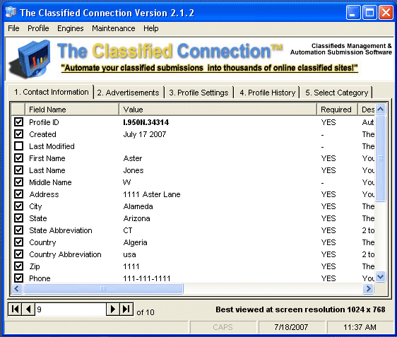 The Classified Connection Screenshot 2