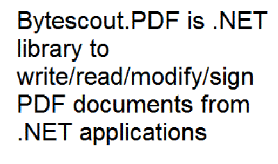 Bytescout PDF SDK Screenshot