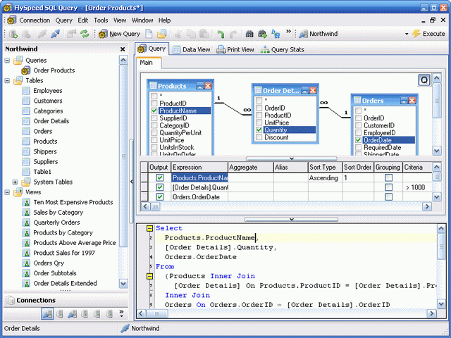 FlySpeed SQL Query Screenshot