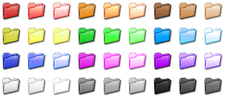 Folder Color Icon Set Screenshot