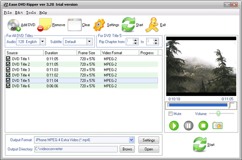 Audiotool Ease DVD Ripper Screenshot