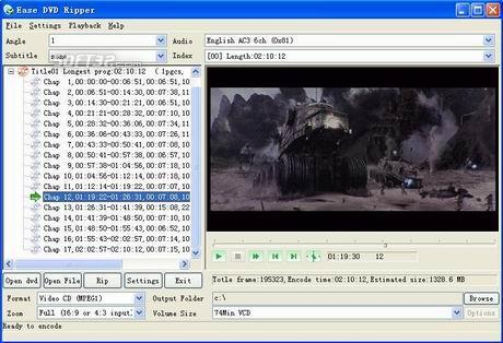 Audiotool Ease DVD Ripper Screenshot 2