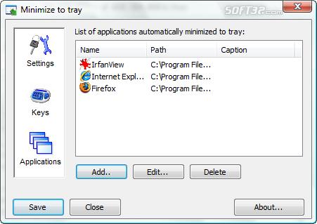 Minimize to tray Screenshot 2