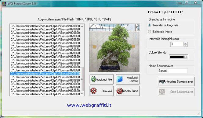 WG-Screensaver Creator Screenshot
