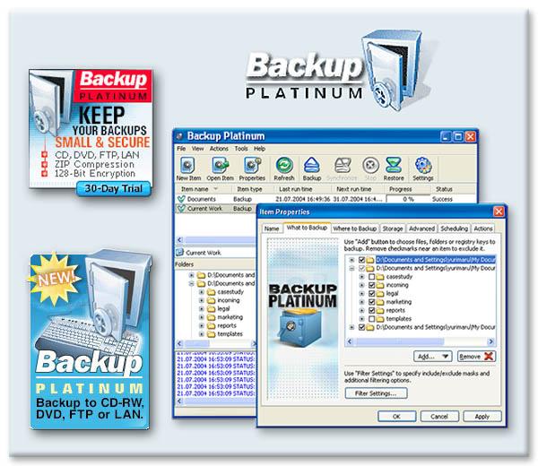 Backup PIatinum Screenshot