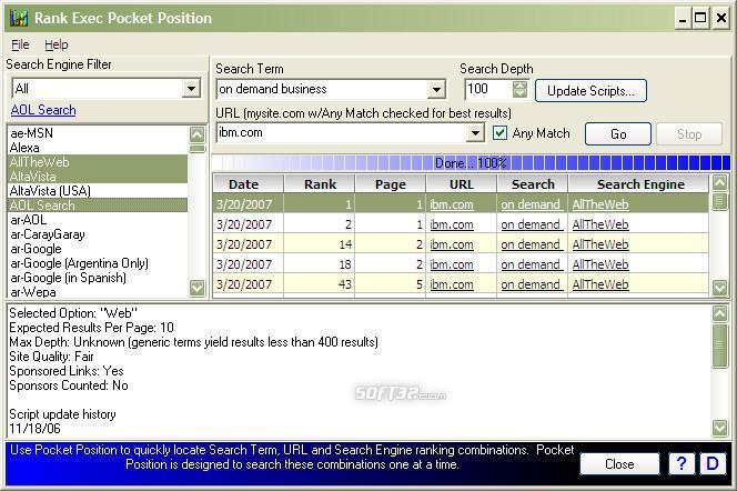 Pocket Position Basic Screenshot