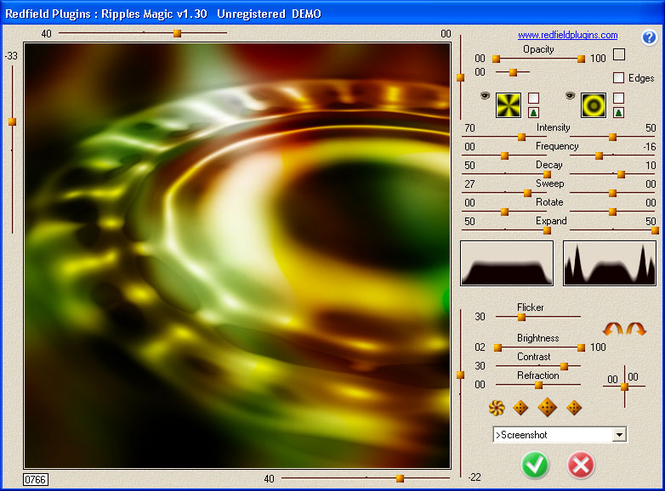 Ripples Magic plug-in Screenshot 1