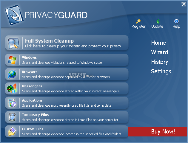 PrivacyGuard 2.0 Light (W2K, XP, Vista) Screenshot