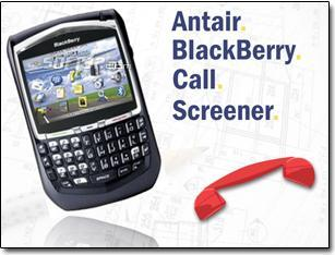Antair BlackBerry Call Screener Screenshot