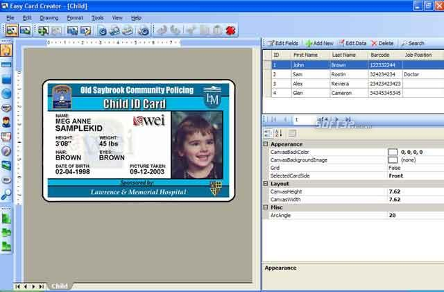 easy id card template by easy card creator free 11 20 60 - How To Make Id Card