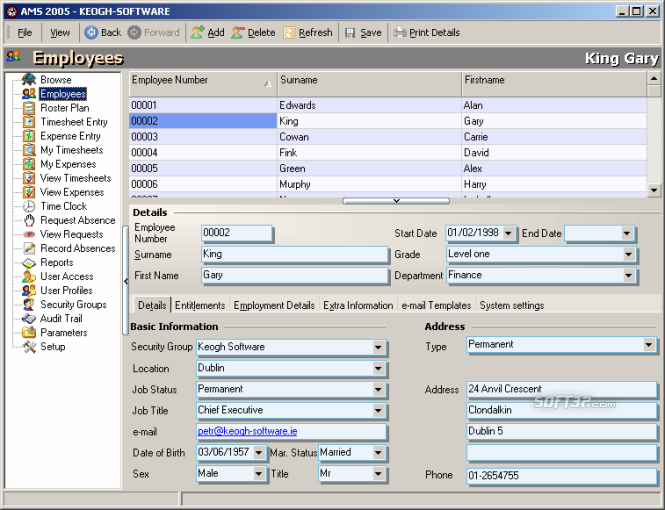 Absence Management Software Screenshot