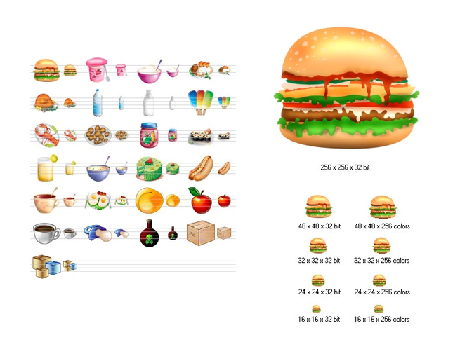 Food Icon Library Screenshot