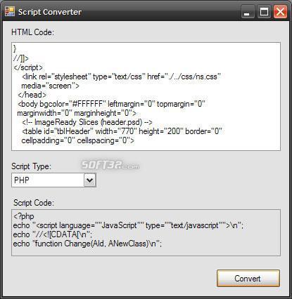 Script Converter Screenshot