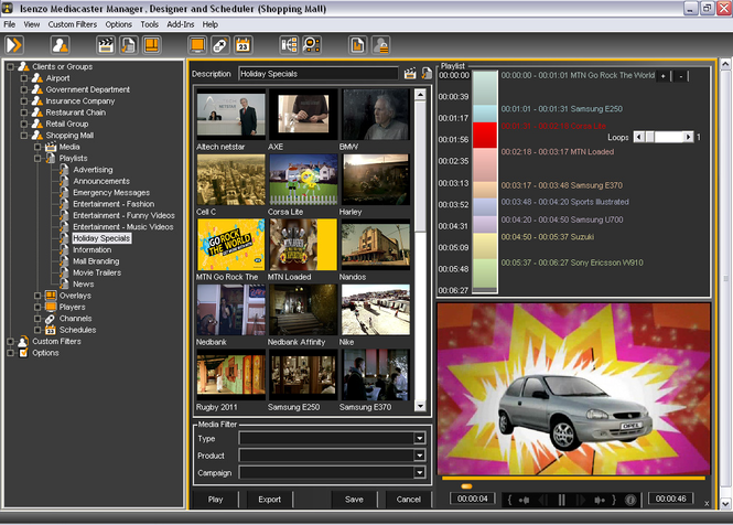 Isenzo Mediacaster Screenshot