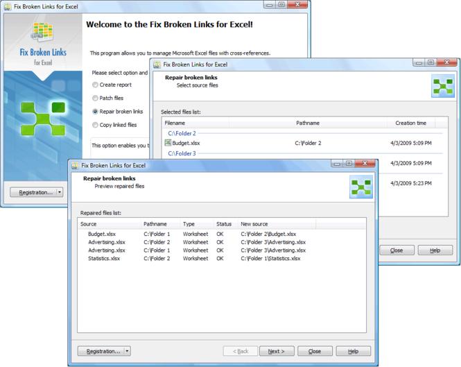 <b>Fix Broken Links</b> for Excel Screenshot 1