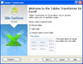 <b>Tables Transformer</b> for Excel 2