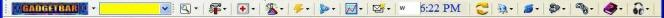 Gadgetbar Toolbar for Internet Explorer Screenshot