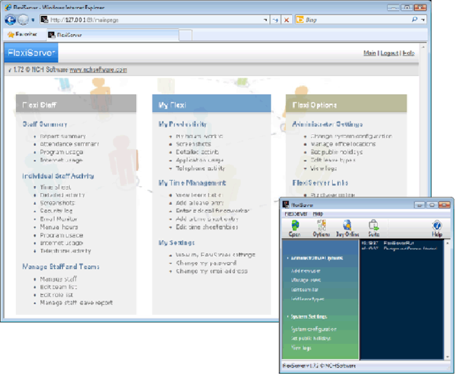 Flexi-Station Employee Management Screenshot