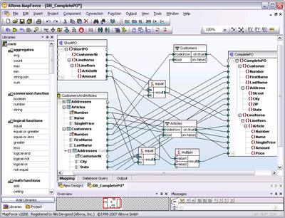 Altova MapForce Enterprise Edition Screenshot 1