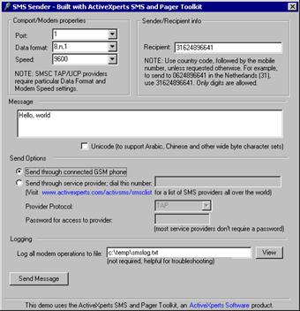 ActiveXperts MMS Toolkit Screenshot 1