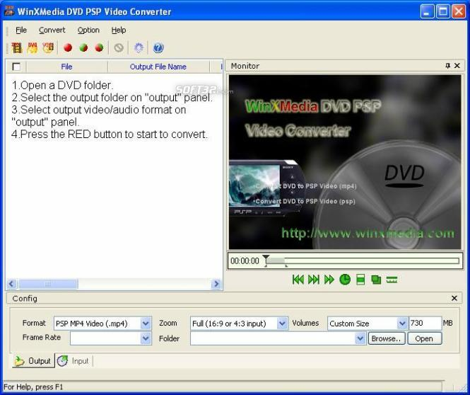 WinXMedia DVD PSP Video Converter Screenshot 2