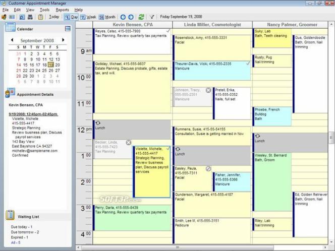 Client Appointment Manager Screenshot 3