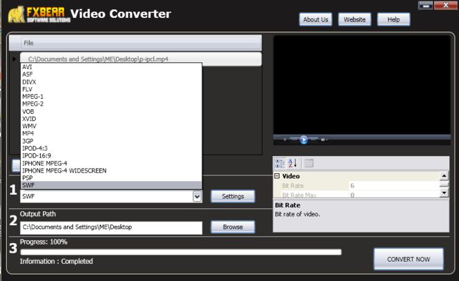FXBear Video Converter Screenshot