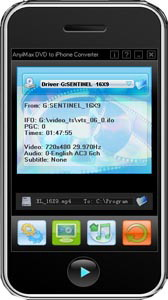 AnyiMax DVD to iPhone Converter Screenshot
