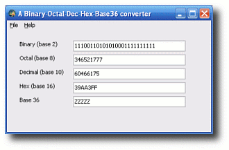 Numeric Converter Screenshot