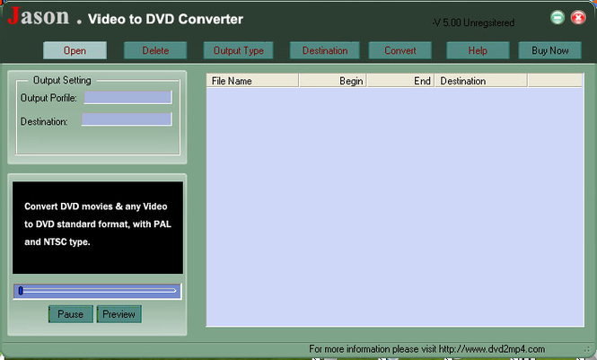 Jason DVD Video to DVD Converter Screenshot 3