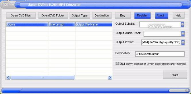Jason DVD to H.264 Converter Screenshot 3