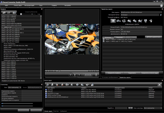 Elecard Converter Studio AVC HD Edition Screenshot