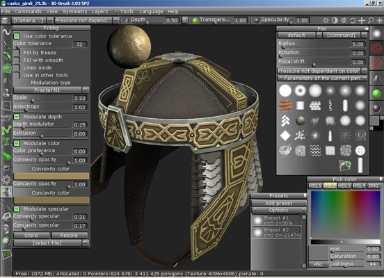 3D-Brush Screenshot