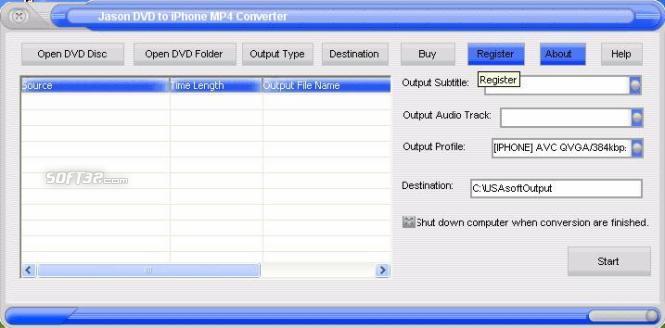 Jason DVD to Mac iPhone Converter Screenshot 3