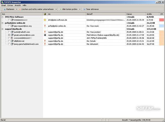 PSPOP3 Inspector Screenshot 3