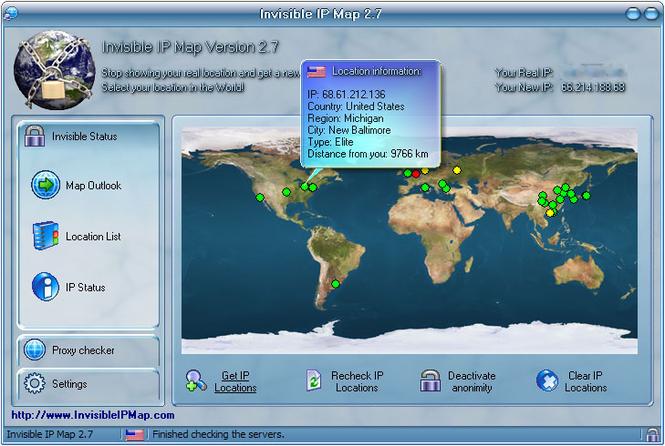 Invisible IP Map Screenshot 1