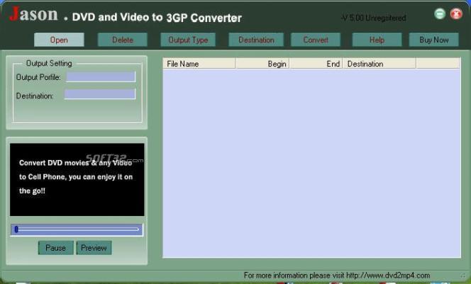 Jason DVD Video to Cell Phone Converter Screenshot 3